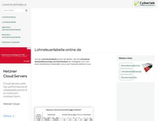 lohnsteuertabelle-online.de screenshot