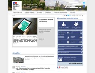 loiret.gouv.fr screenshot