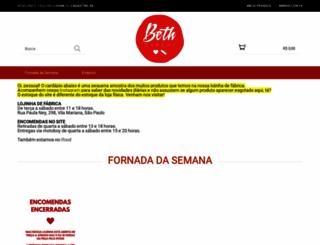 loja.bethbakery.com.br screenshot