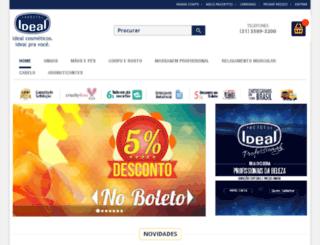 lojaidealcosmeticos.com.br screenshot