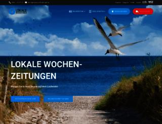 lokale-wochenzeitungen.de screenshot