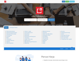 lokerindonesia.com screenshot