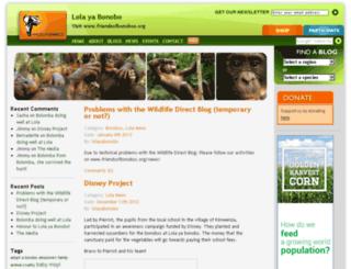 lolayabonobo.wildlifedirect.org screenshot