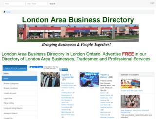 londonareabusinessdirectory.com screenshot