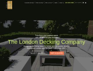 londondeckingcompany.co.uk screenshot