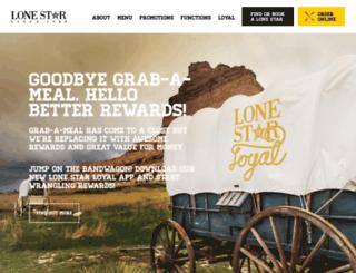 lonestargrabameal.co.nz screenshot