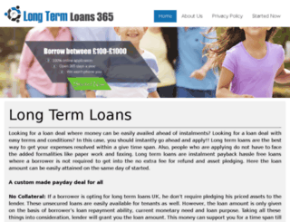 longtermloans365.co.uk screenshot
