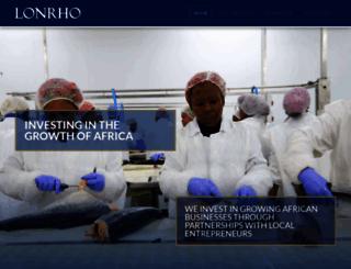 lonrho.com screenshot