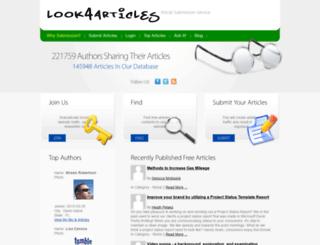 look4articles.com screenshot