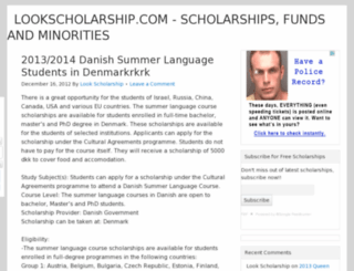 lookscholarship.com screenshot
