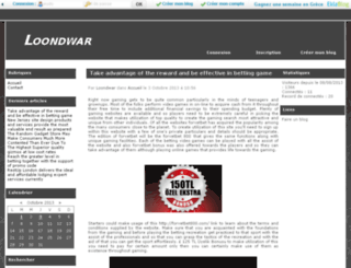 loondwar.eklablog.com screenshot
