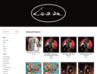 looserecords.bigcartel.com screenshot