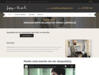 lopezabogado.com screenshot