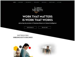 lopeznegrete.com screenshot