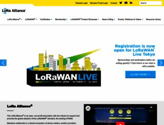 lora-alliance.org screenshot
