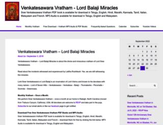 lordbalajimiracles.com screenshot