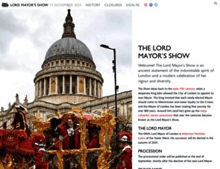 lordmayorsshow.london screenshot
