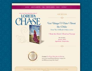 lorettachase.com screenshot