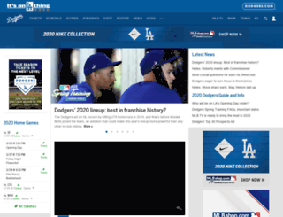 losangeles.dodgers.mlb.com screenshot