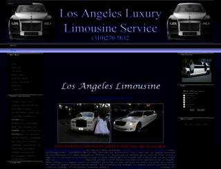 losangelesluxurylimo.com screenshot