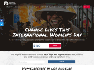 losangelesmission.org screenshot