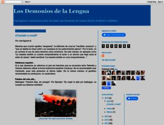 losdemoniosdelalengua.blogspot.mx screenshot
