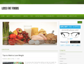 lossfatfoods.com screenshot