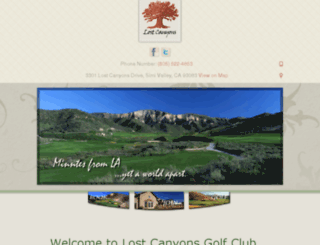 lostcanyons.com screenshot