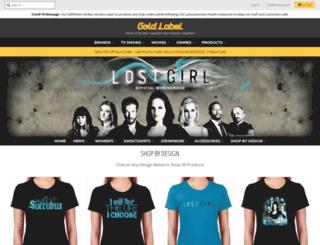 lostgirl.goldlabelgoods.com screenshot