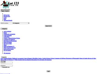 lot123.com.au screenshot