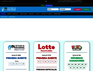 loteria.com.ec screenshot