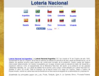 loterianacional.resultadosdeloterias.info screenshot