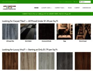 lotsofcarpet.com screenshot