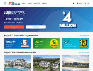 lotteryaffiliates.com screenshot