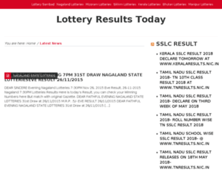 lotteryresults.ind.in screenshot