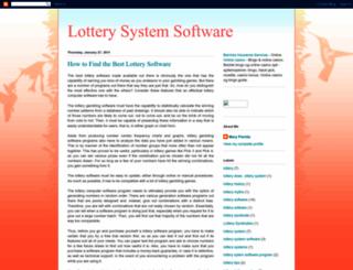 lotterysystemssoftware.blogspot.com screenshot