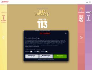 lotto-brandenburg.de screenshot