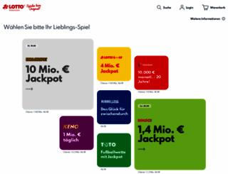 lotto-niedersachsen.de screenshot