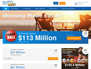lottoplus.com screenshot