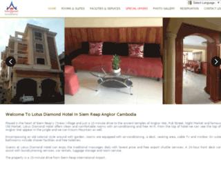 lotusdiamondhotel.com screenshot