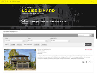 louisesimard.com screenshot
