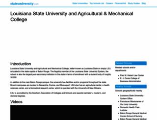 louisiana.stateuniversity.com screenshot