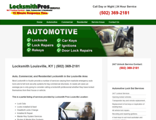 louisville.locksmithprostx.com screenshot
