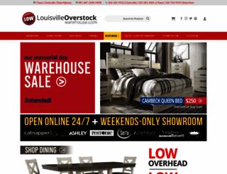 louisvilleoverstockwarehouse.com screenshot
