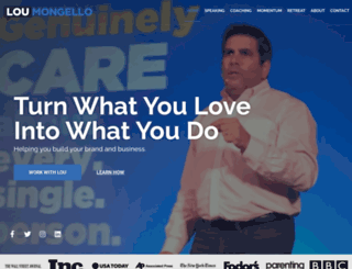 loumongello.com screenshot