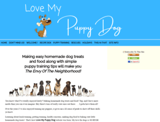 love-my-puppy-dog.com screenshot