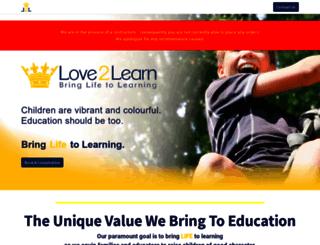 love2learn.co.za screenshot