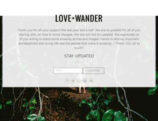 loveandwander.com screenshot