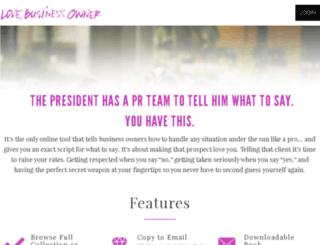 lovebusinessowner.com screenshot