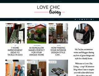 lovechicliving.co.uk screenshot
